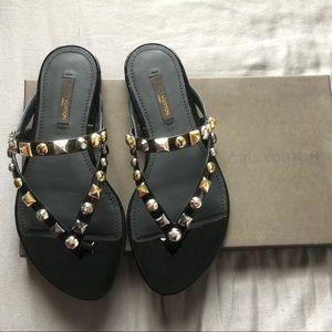 Louis Vuitton Berries Flat Thong 35.5 New